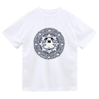 曼荼羅ぷーやん(青) Dry T-Shirt