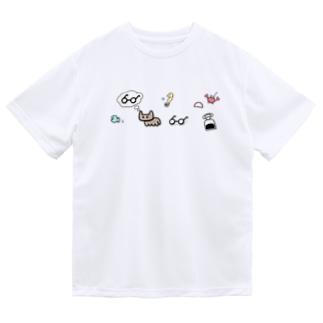 ねこめがね Dry T-Shirt
