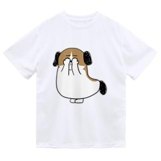もじゃまる目隠し Dry T-shirts