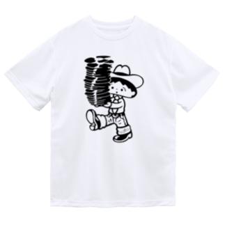 レコードを運ぶレコスケくん Dry T-Shirt