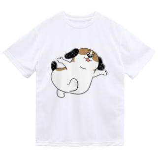 もじゃまるあそんで Dry T-shirts