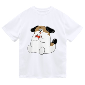 もじゃまるとカニ Dry T-shirts