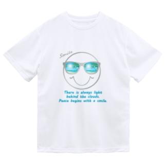 サングラス×スマイル🕶(グレー) Dry T-Shirt