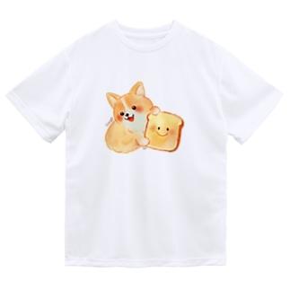 食パンコーギー Dry T-Shirt