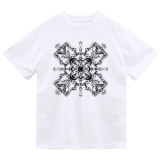 シンメトリ(黒ver) Dry T-shirts