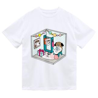 もじゃまるくつろぎ Dry T-shirts