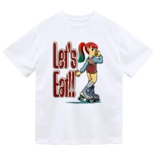 "nidan-illustrationの""let's eat!!"" Dry T-Shirt"