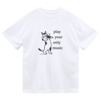 mikepunchのplay your only music <ヴァイオリン> Dry T-Shirt