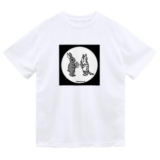 mikepunchの猫とうさぎのお月見A Dry T-Shirt