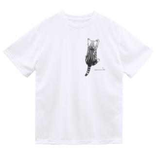 ぶらさがり子猫 つれてって♪ ドライTシャツ
