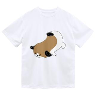 もじゃまるうつぶせ Dry T-shirts