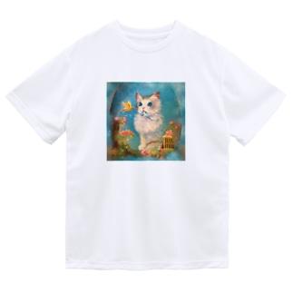 フラゴナール〜ケージから鳥を解き放す子猫〜 ドライTシャツ
