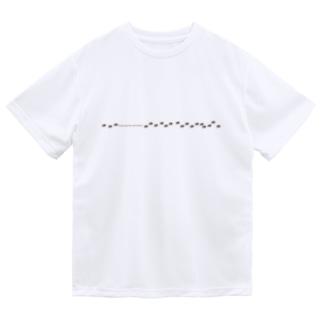 アミメアリの行列 ドライTシャツ