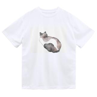 水彩猫 Dry T-shirts