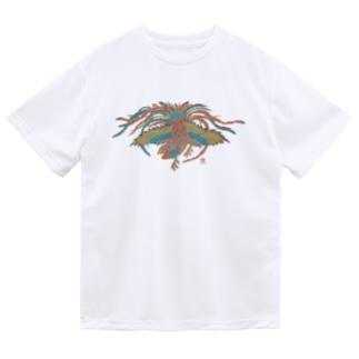 鶏 筒描き風 Dry T-Shirt