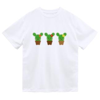 フォーヴァのサボテンウサギ Dry T-shirts