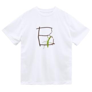 【B】カマキリついてるよ!イニシャル Dry T-Shirt