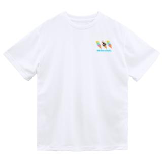 アイスと文鳥ず ロゴ入り② Dry T-Shirt