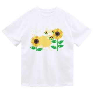 夏だよ!ひまわりの妖精 ドライTシャツ