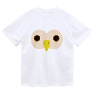 フクロウ ドライTシャツ