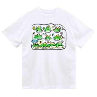 norinori819の南アルプスのイラスト Dry T-Shirt