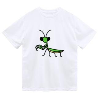 カマキリ ドライTシャツ
