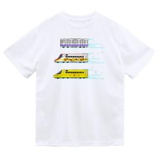 はたらくでんしゃ(先頭車両キラキラ) Dry T-Shirt