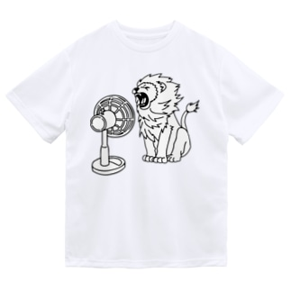 扇風機にあたるライオン Dry T-Shirt
