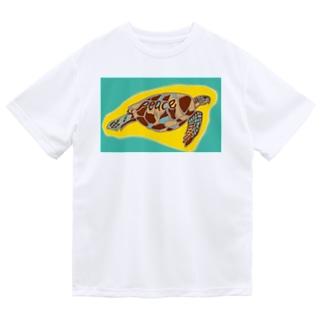 青海ガメ(2) ドライTシャツ