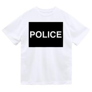 警察応援POLICEマスク ドライTシャツ