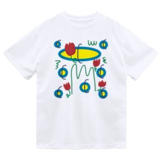 花とノイズ ドライTシャツ