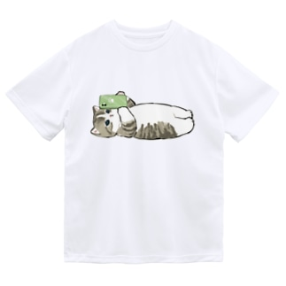 寝落ち Dry T-shirts