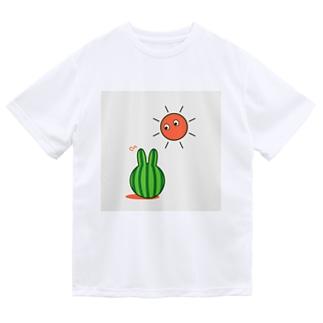スイカうさぎ ドライTシャツ