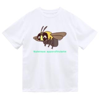 クマバチくん【むしのなかま】 ドライTシャツ