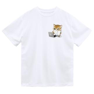在宅勤務にゃん Dry T-Shirt