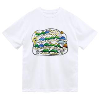 北アルプスのイラスト Dry T-Shirt