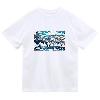 金峰山の切り絵 Dry T-Shirt