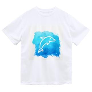涼しげに♥イルカ🐬 Dry T-Shirt