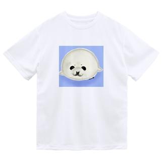 ベビーアザラシ背景あり Dry T-Shirt