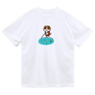 釣りする犬 Dry T-Shirt