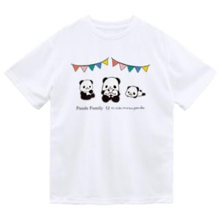 パンダファミリー(ニンキモノパンダ) Dry T-Shirt