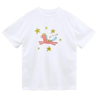 上手くいくおうまさん Dry T-shirts