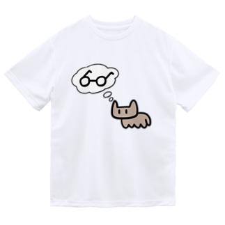 ねこめがね 単体 Dry T-Shirt