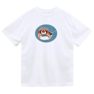 キンカチョウもしゃもしゃ ドライTシャツ
