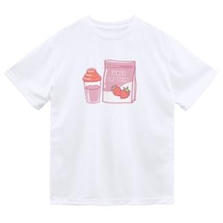 プロテインいちご味 Dry T-Shirt