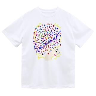 アフロちゃん花火 ドライTシャツ