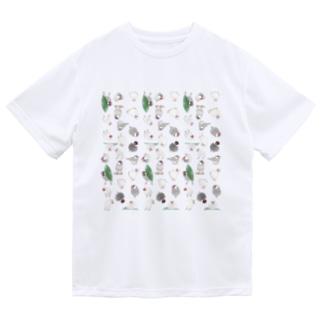 たっぷり文鳥ちゃん【まめるりはことり】 Dry T-shirts