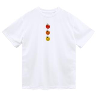 ミニトマト3兄弟 Dry T-shirts