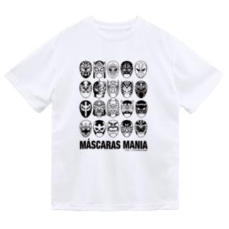 MASCARAS MANIA(黒プリント) Dry T-Shirt