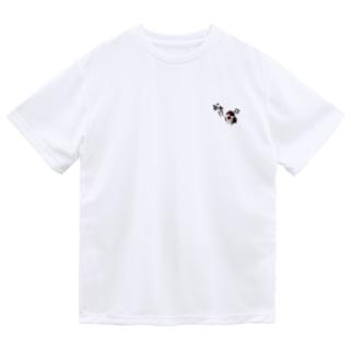 キレてるスズメ Dry T-shirts